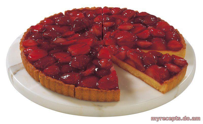 Открытый пирог с клубникой рецепт с