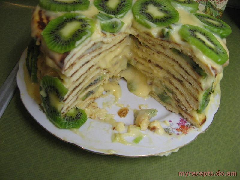 Торт черепаха с киви фото
