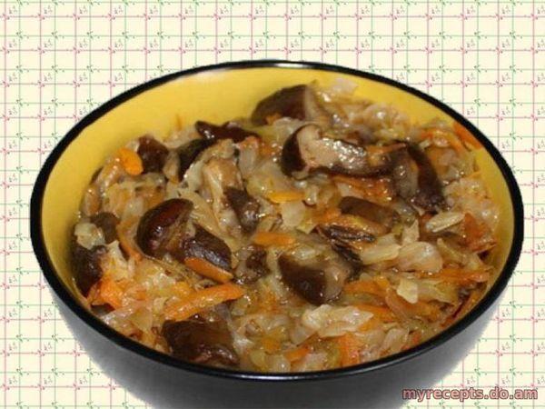 рецепт солянки с капустой и с грибами