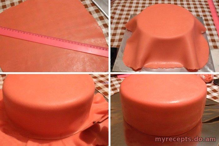 Фото рецепт торт из мастики